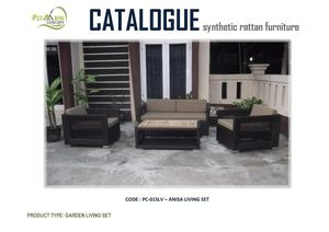 Synthetic Rattan Living Set