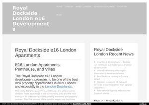 ROYAL DOCKSIDE, LONDON E16 Development and Apartments