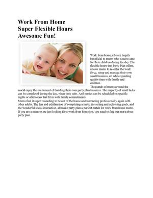 Work From Home Super Flexible Hours Awesome Fun