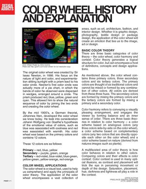 Calaméo - Color Wheel History And Explanation