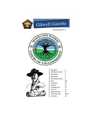 Gilwell Gazette Sd 1