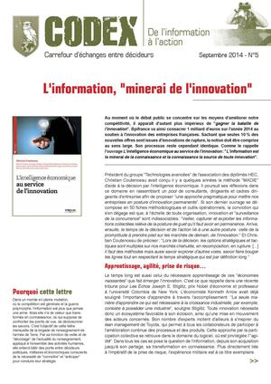 CODEX N°5_Information et innovation