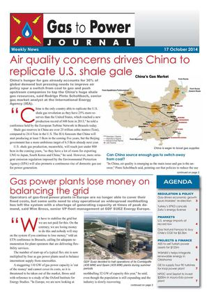 Gas to Power Journal - Weekly News - 77 - 2014 October 17