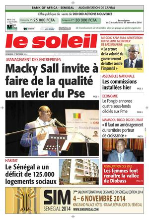 Edition du 17 Octobre 2014