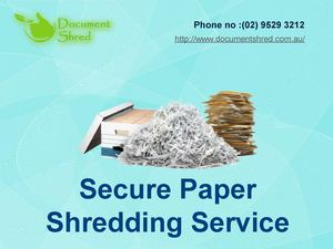 Paper Shreadding Service 10 17 2014