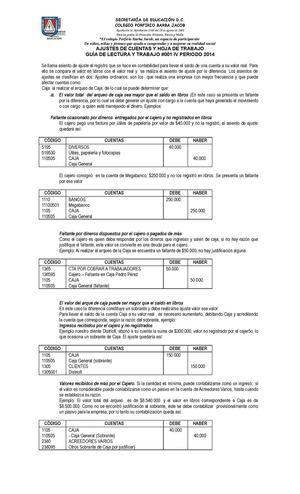 Calaméo - Ajustes De Cuentas Y Hoja De Trabajo