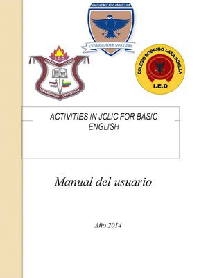 Manual Activities In Jclic For Basic English