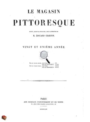 Le Magasin Pittoresque 1853