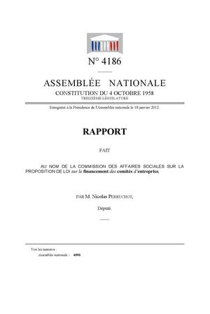 Ce Rapport Assemblee Nationale