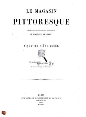 Le Magasin Pittoresque 1855