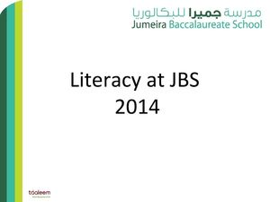 Jbs Parents Literacy Information Evening 2014