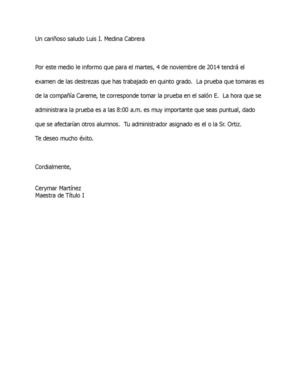 Carta De Mail Merge A Estudiantes