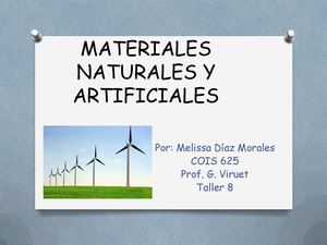 Power Point Materiales Naturales Y Artificiales