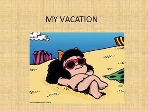 My Vacation Ingles