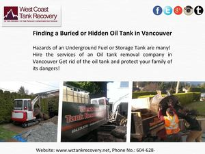 Fast, Safe and Professional Oil Tank Removal