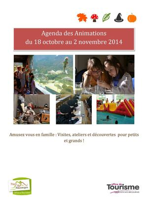 Agenda Animations Toussaint 2014