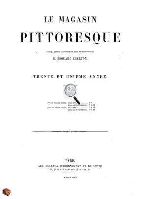 Le Magasin Pittoresque 1863