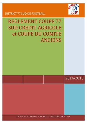 Coupes Anciens 2014 2015