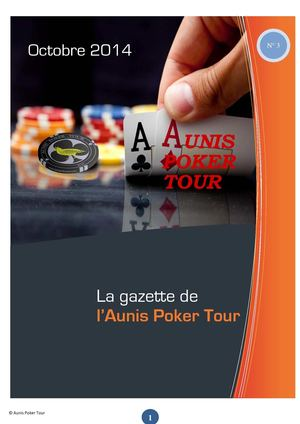 La Gazette de l'Aunis Poker Tour - N° 3