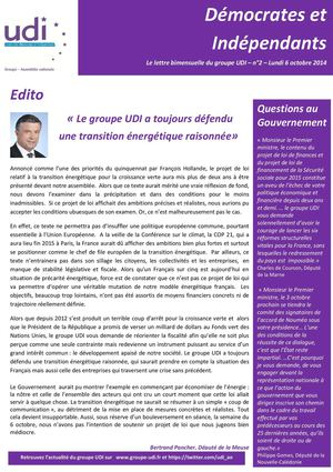 Newsletter 2 - Groupe UDI AN