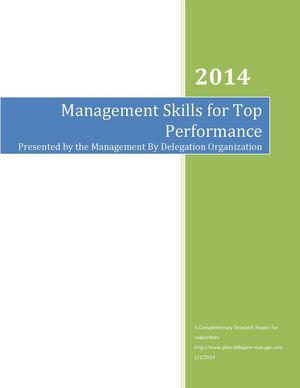 Management Skills For High Level Performance V3
