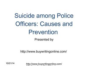 Suicide Among Police Officers