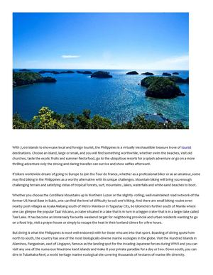 Micron Associates Travel Guide Tips Philippines For The Stout Hearted Visitors