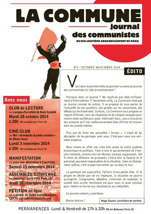 La Commune - n°1 - octobre 2014