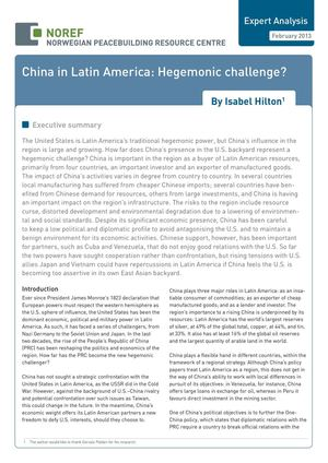 China In Latin America