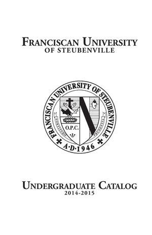 Calamo 2014 15 Undergraduate Catalog