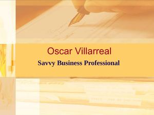 Oscar Villarreal: Savvy Business Professional