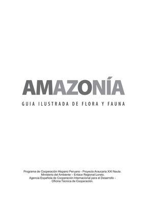 Calaméo - Amazonía Guía Ilustrada De Flora Y Fauna