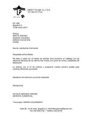 cartas pedidos