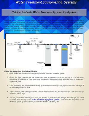 Guide To Maintain Water Treatment Systems Step By Step Document Sharing