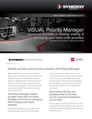 Synergy Extensions Priority Manager