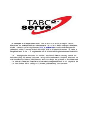 TABC Certification Courses