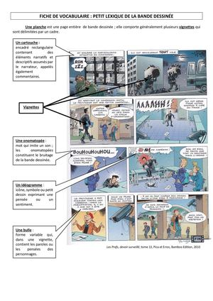 bande dessinee vocabulaire