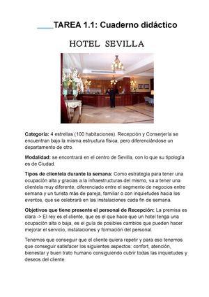 Calaméo - Tarea 1.1 ¿Cómo es un departamento de Recepción de Hotel?