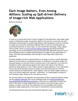 Scaling up QoE-driven Delivery of Image-rich Web Applications