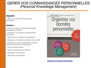 XDEL Offre formation 2014 Organiser les informations