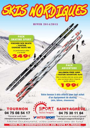 catalogue skis nordiques Intersport