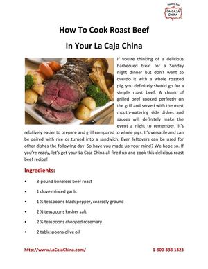 How To Cook Roast Beef In Your La Caja China