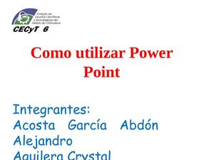 Como usar Power Point