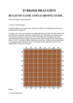 Rules Of Turkish Draughts