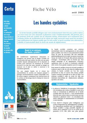 Fiches Velos 02 Bandes Cyclables