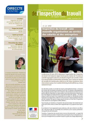 Calam o 10 lettre d information de l inspection du - Inspection du travail bourges ...