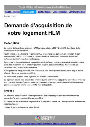 Calameo Demande D Acquisition D Un Logement Hlm