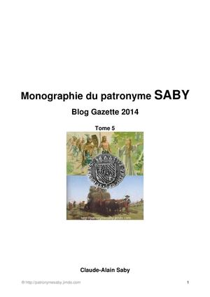 Tome 5 Blog Gazette 2014