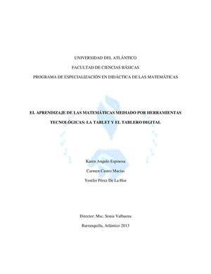 Calaméo - El Aprendizaje De Las Matemáticas La Tablet Y El Tablero ...
