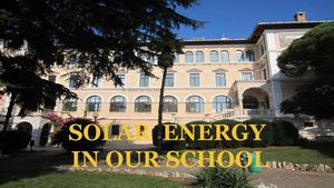 SOLAR ENERGY FOR OUR SUSTAINABLE SCHOOL